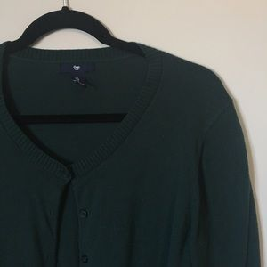 Dark green button front cardigan
